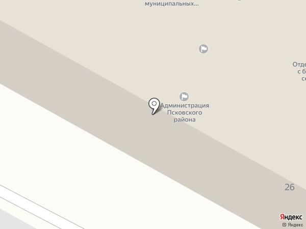 Финансовое управление на карте Пскова