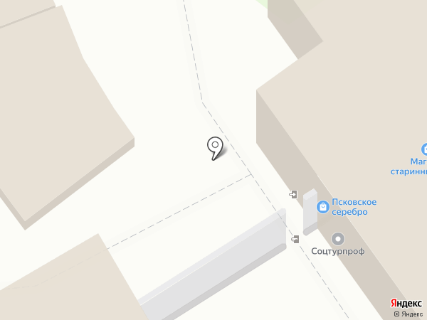 Магазин сувениров на карте Пскова