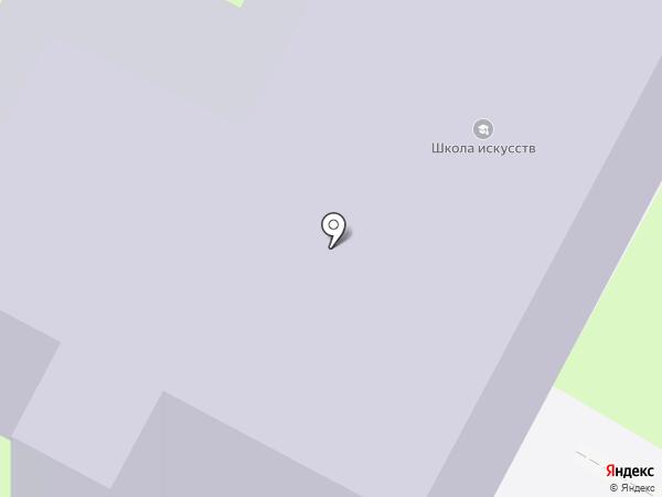 Детская школа искусств на карте Пскова