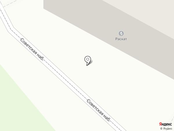 Раскат на карте Пскова