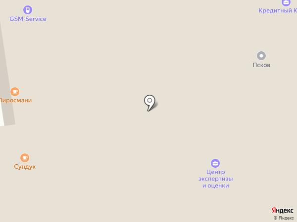 Добро на карте Пскова