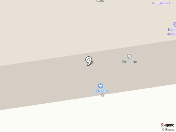 Луч на карте Пскова