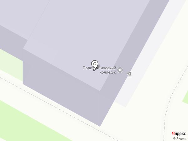Псковский политехнический колледж на карте Пскова
