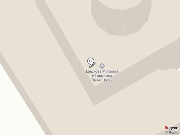 Церковь Михаила и Гавриила Архангелов с Городца на карте Пскова