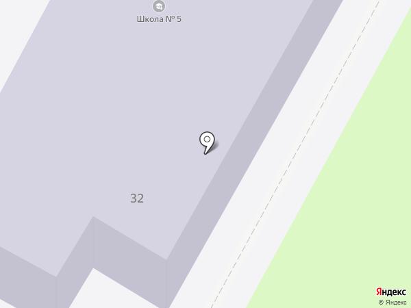 Специальная коррекционная общеобразовательная школа №5 на карте Пскова