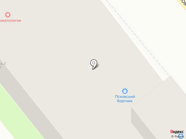 Псковская лепная мастерская на карте Пскова
