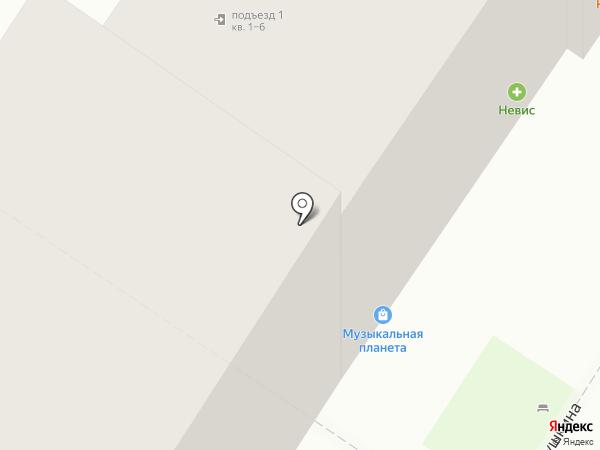 Невис на карте Пскова