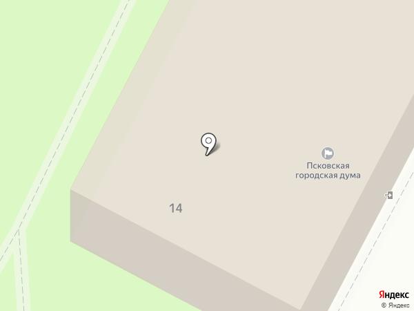 Псковская Городская дума на карте Пскова