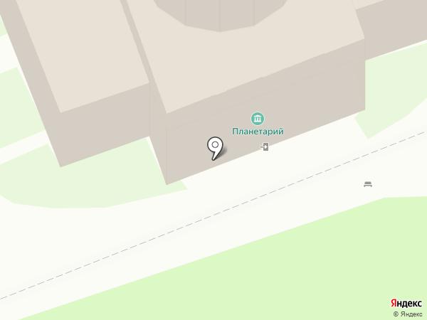 Планетарий на карте Пскова