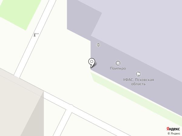 Псковский областной институт повышения квалификации работников образования на карте Пскова