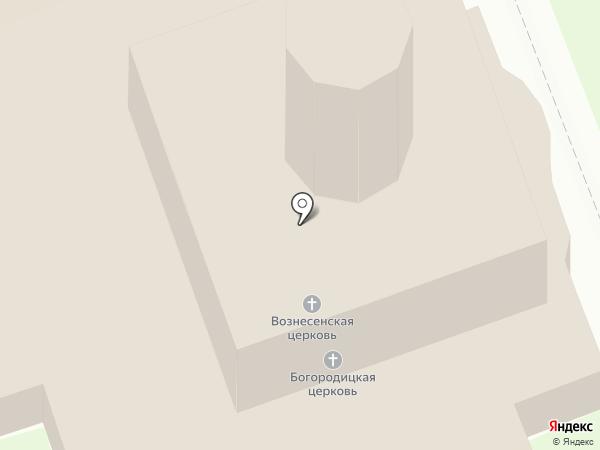 Церковь Вознесения Старовознесенского монастыря на карте Пскова