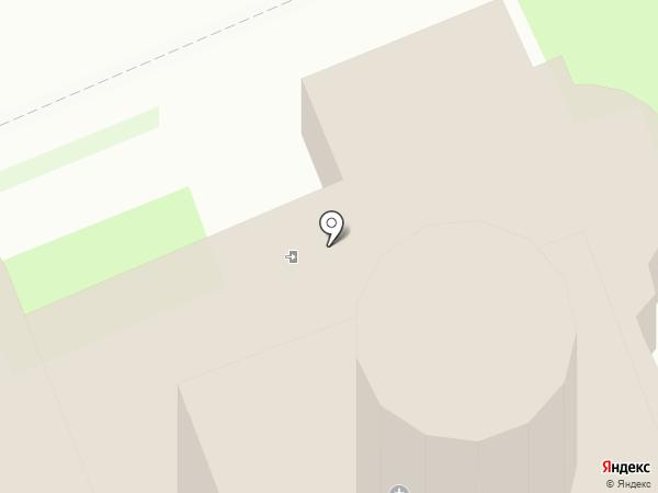 Церковь Богоявления Господня с Запсковья на карте Пскова