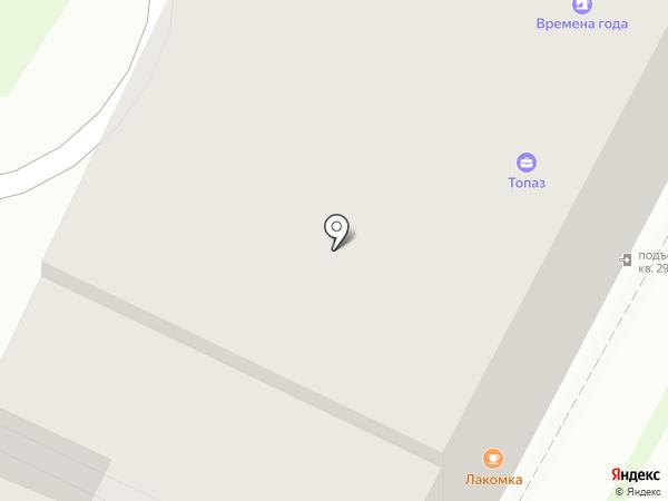 Интурист на карте Пскова