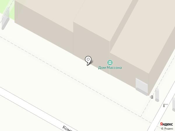 Дом Массона на карте Пскова