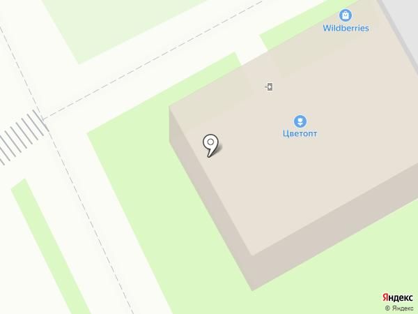 Цветочная база на карте Пскова