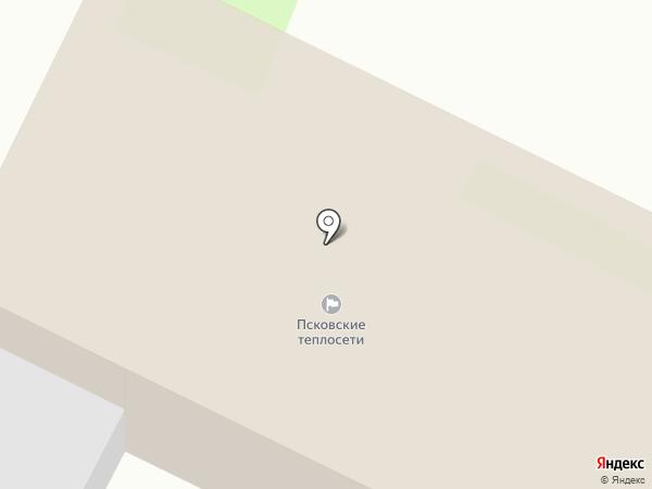 Псковские тепловые сети, МП на карте Пскова