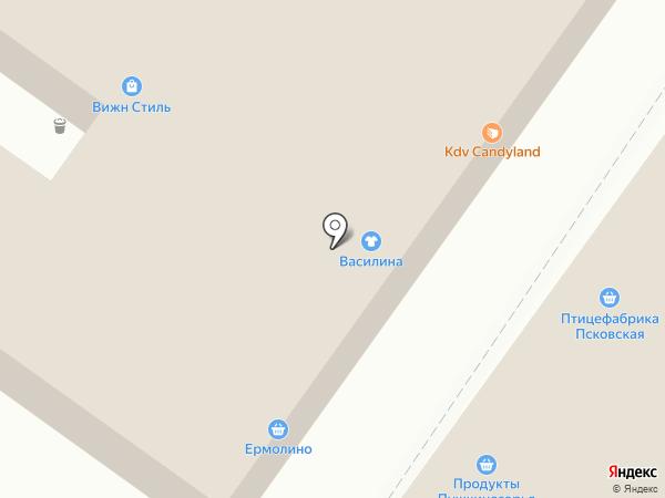 Магазин одежды из Белоруссии на карте Пскова