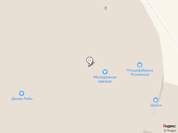 магазин белья на карте Пскова
