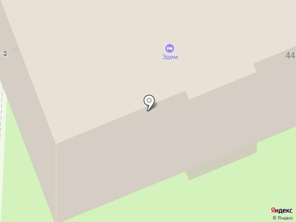 Эдем на карте Пскова