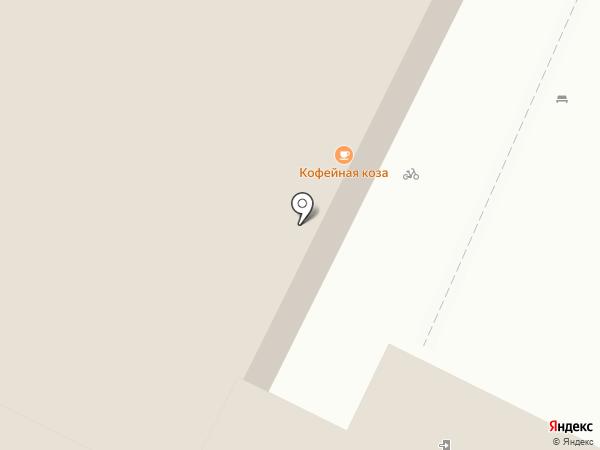 Кофейная коза на карте Пскова