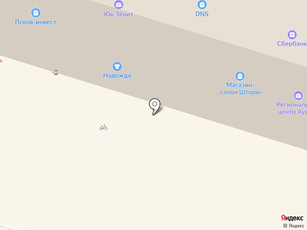 Детский дворик на карте Пскова