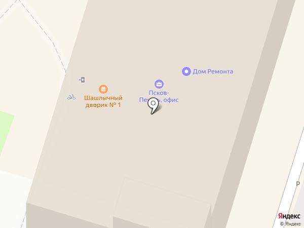 Поросята-Псков на карте Пскова