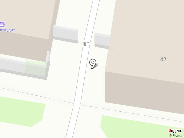 Ангел на карте Пскова
