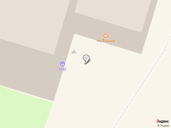 Столовая на Янушке на карте Пскова