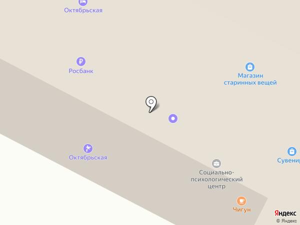 Октябрьская на карте Пскова