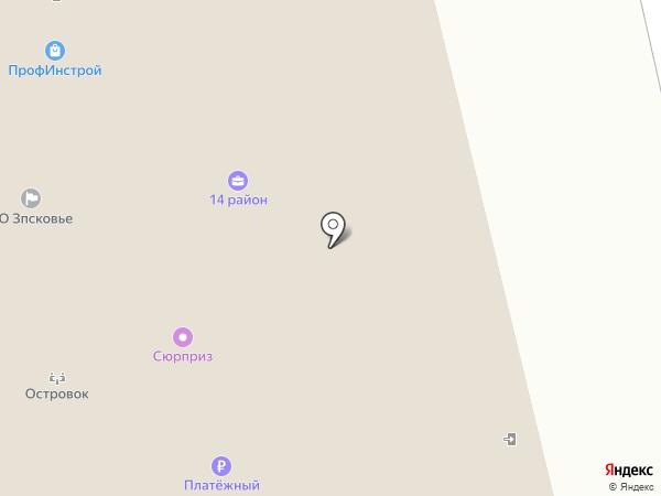 Модистъ на карте Пскова