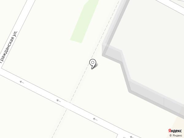 Шиномонтажная мастерская на Гражданской на карте Пскова