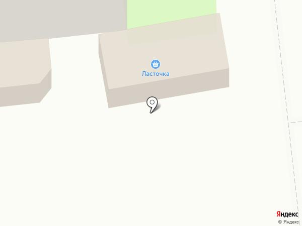 Ласточка на карте Пскова