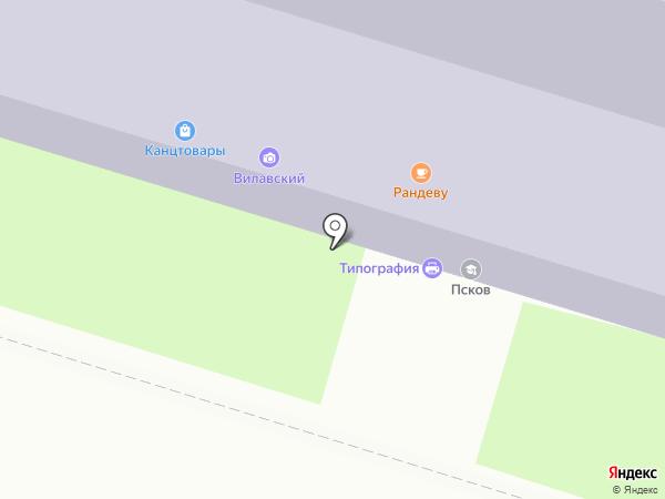 ПСКОВ, ЧОУ на карте Пскова