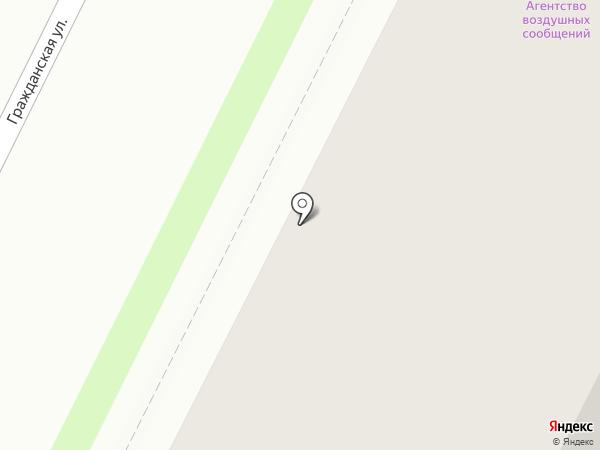 Агентство воздушных сообщений на карте Пскова