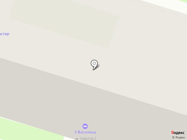 Данила-Мастер на карте Пскова