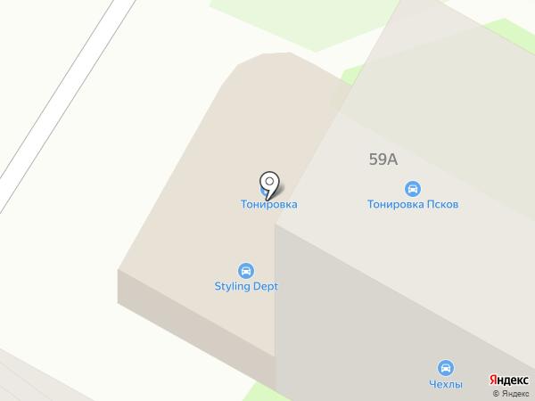 Кафетерий на карте Пскова