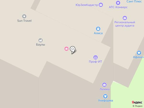Авен-Псков на карте Пскова