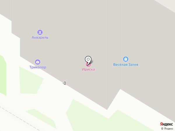 Акварель на карте Пскова