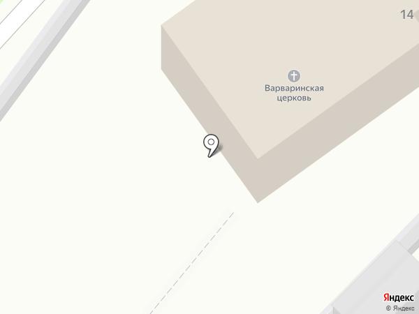 Церковь Варвары Великомученицы на карте Пскова