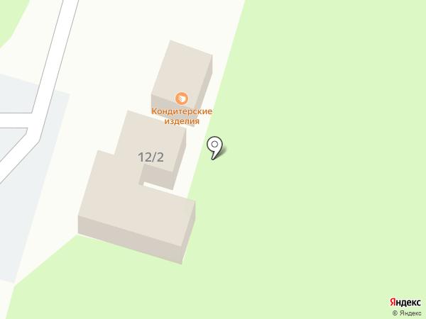 Киоск по продаже кондитерских изделий на карте Пскова