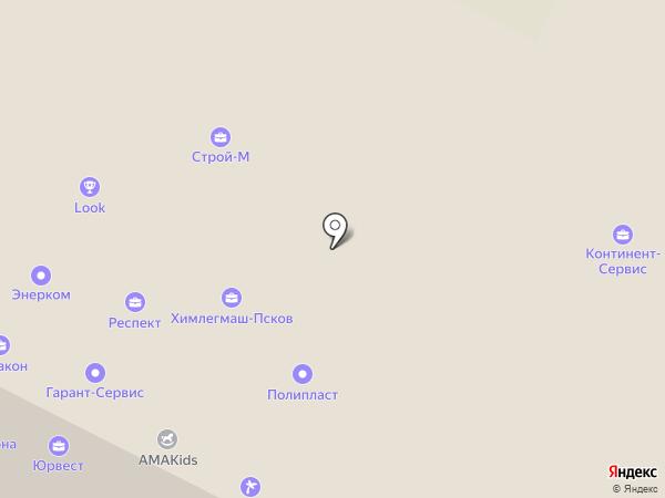 Солвер на карте Пскова