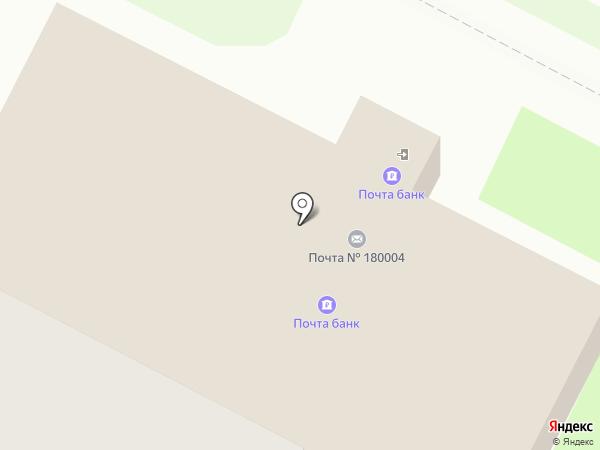 Почтовое отделение №4 на карте Пскова