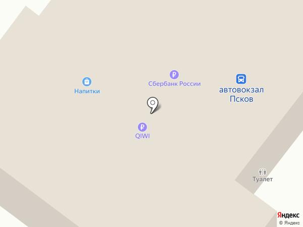 Автовокзал на карте Пскова
