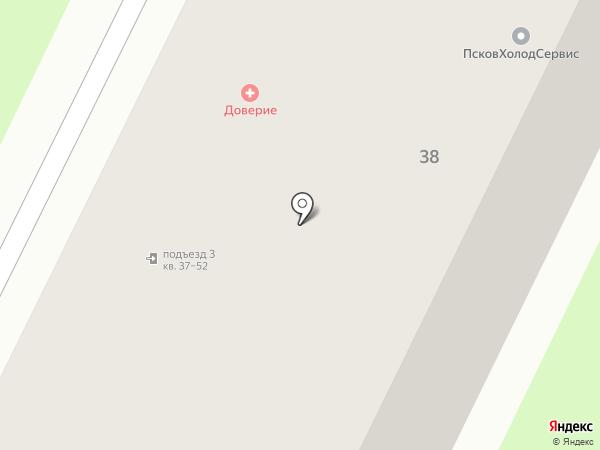 Салют на карте Пскова