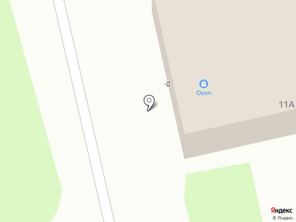 Избушка на карте Пскова