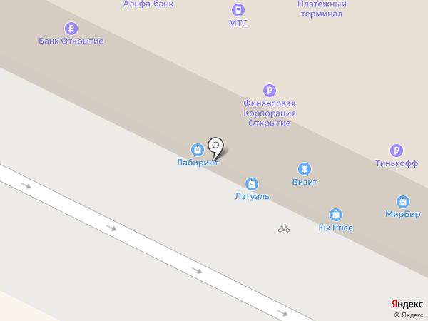 Элегант на карте Пскова