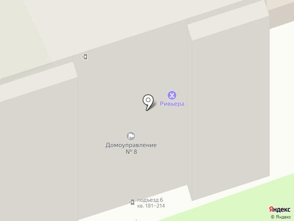 Ривьера на карте Пскова