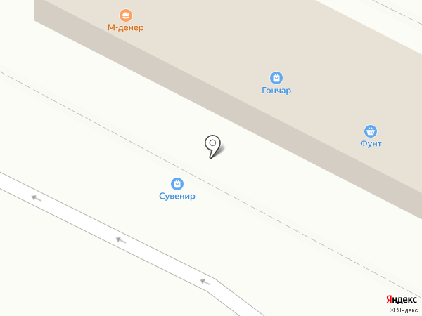 Псковский сувенир на карте Пскова
