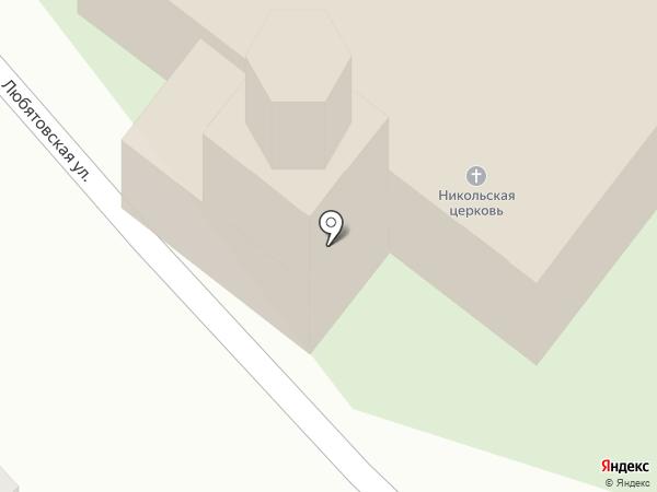 Церковь Николы Чудотворца на карте Пскова