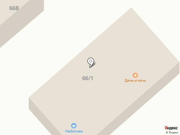 Любятово на карте Пскова